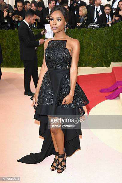 Zuri Hall attends the 'Manus x Machina Fashion In An Age Of Technology' Costume Institute Gala at Metropolitan Museum of Art on May 2 2016 in New...