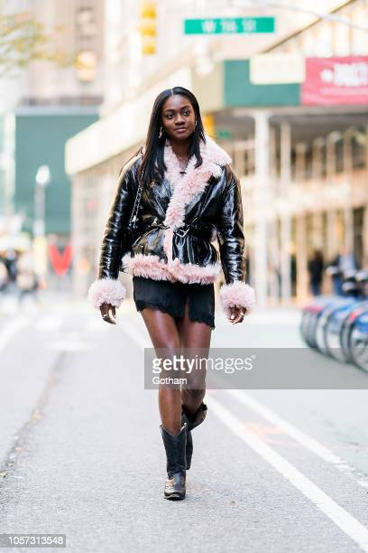 Zuri Tibby attends fittings for the 2018 Victoria's Secret Fashion Show in Midtown on November 4 2018 in New York City