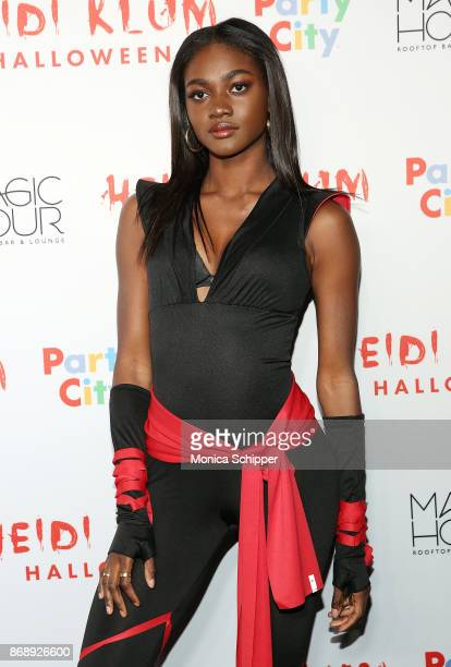Zuri Tibby attends Heidi Klum's 18th Annual Halloween Party at Magic Hour Rooftop Bar Lounge on October 31 2017 in New York City