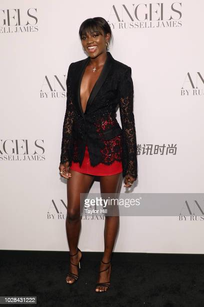 """Zuri Tibby attends Russell James' launch of his photobook and exhibition """"Angels"""" at Stephan Weiss Studio on September 6, 2018 in New York City."""