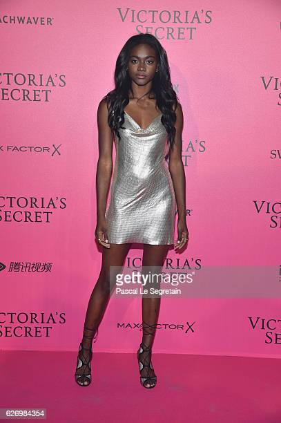 Zuri Tibby attends the 2016 Victoria's Secret Fashion Show after party on November 30 2016 in Paris France