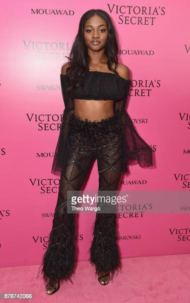 Zuri Tibby attends the 2017 Victoria's Secret Fashion Show In Shanghai After Party at MercedesBenz Arena on November 20 2017 in Shanghai China