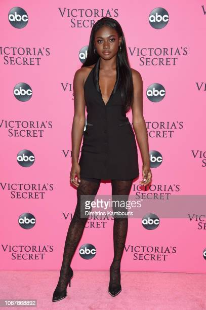 Zuri Tibby attends the Victoria's Secret Viewing Party ar Spring Studios on December 2 2018 in New York City