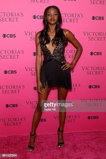 Zuri Tibby attends the Victoria's Secret Viewing Party Pink Carpet celebrating the 2017 Victoria's Secret Fashion Show in Shanghai at Spring Studios...
