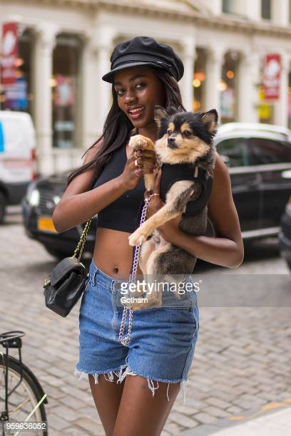Zuri Tibby is seen in NoHo on May 17 2018 in New York City
