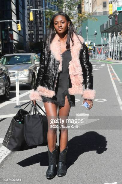 Zuri Tibby is seen on November 04 2018 in New York City