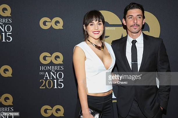 Zuria Vega and Alberto Guerra attend the GQ Mexico Men of The Year 2015 awards at Live Aqua Bosques hotel on November 4 2015 in Mexico City Mexico