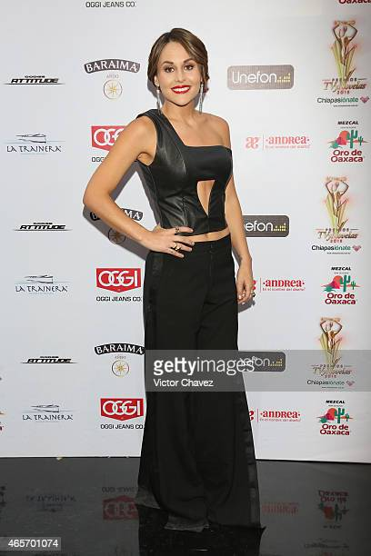 Zuria Vega arrives at Premios TV y Novelas 2015 at Televisa San Angel on March 9 2015 in Mexico City Mexico
