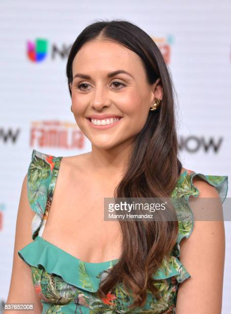 Zuria Vega at the Press Conference for new soap opera Mi Marido Tiene Familia at Univision Studios on August 21 2017 in Doral FL