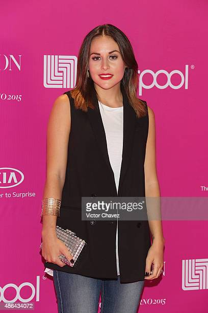 Zuria Vega attends the Liverpool Fashion Fest Autumn/Winter 2015 at Televisa San Angel on September 3 2015 in Mexico City Mexico