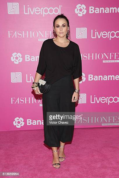 Zuria Vega attends the Liverpool Fashion Fest Spring/Summer 2016 at Televisa San Angel on March 3 2016 in Mexico City Mexico