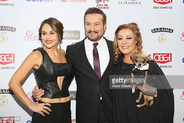 Zuria Vega Aturo Peniche and Sylvia Pasquel arrive at Premios TV y Novelas 2015 at Televisa San Angel on March 9 2015 in Mexico City Mexico