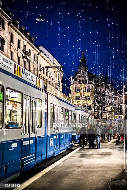 Zurich - Bahnhofstrasse with Christmas lights