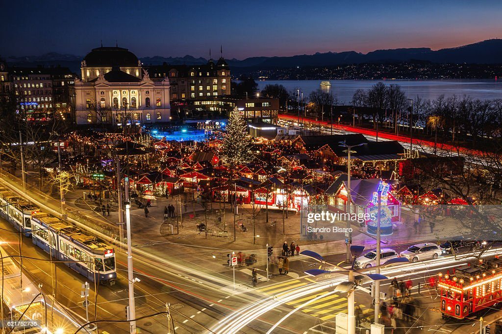 Zurich Christmas Market Stock Photo | Getty Images