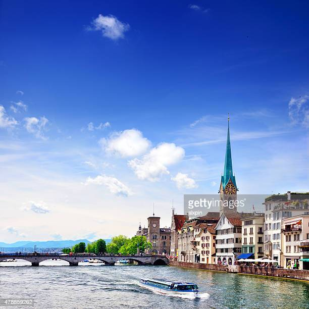 zurich cityscape - zurich stock pictures, royalty-free photos & images
