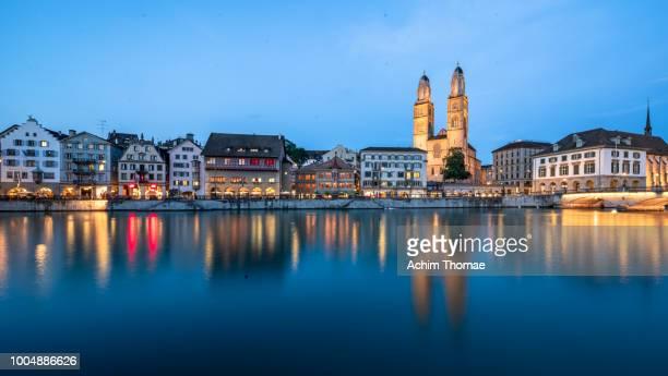 zurich cityscape, switzerland, europe - zurich stock photos and pictures