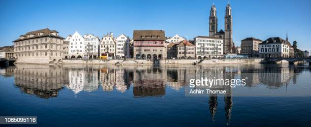 zurich cityscape, switzerland, europe - geschichtlich stockfoto's en -beelden