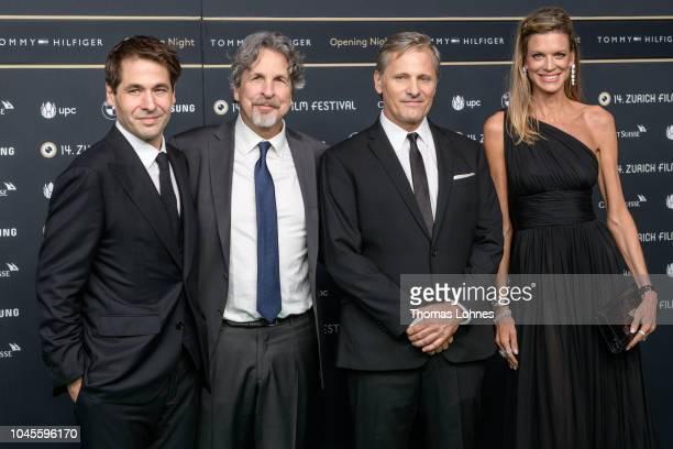 Zurich Film Festival director Karl Spoerri Director Peter Farrelly Viggo Mortensen and Zurich Film Festival director Nadja Schildknecht attend the...