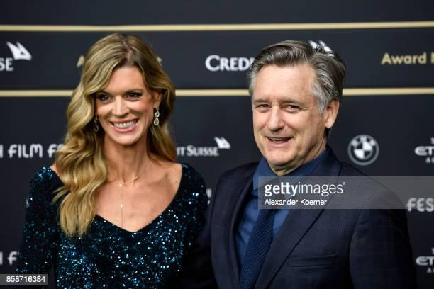 Zurich Film Festival director Nadja Schildknecht and Bill Pullman attend the Award Night of the the 13th Zurich Film Festival on October 7 2017 in...