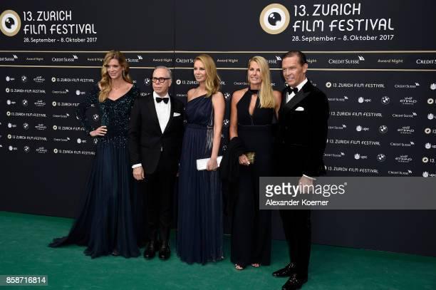 Zurich Film Festival director Nadja Schildknecht Tommy Hilfiger and his wife Dee Hilfiger Sandra Grieder and CEO Tommy Hilfiger and PVH Europe Daniel...
