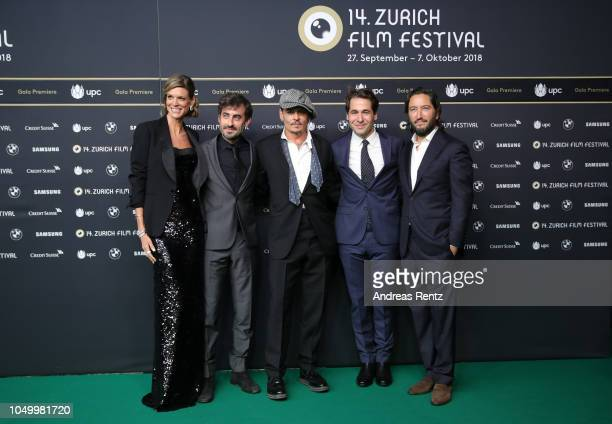 Zurich Film Festival director Nadja Schildknecht Wayne Roberts Johnny Depp Zurich Film Festival director Karl Spoerri and producer Greg Shapiro...