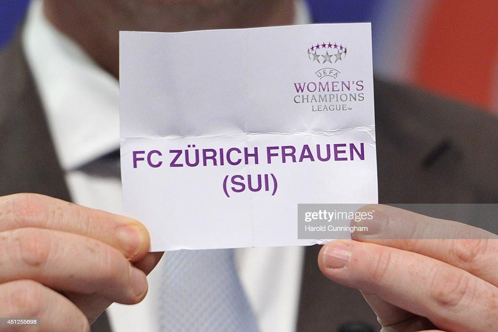 UEFA 2014/15 Women's Champions League Qualifying Round Draw : News Photo