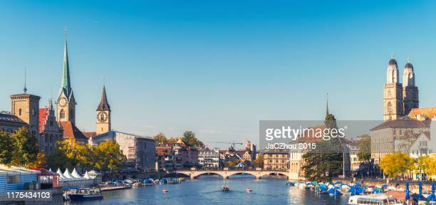 zurich old town skyline - zurich stock pictures, royalty-free photos & images