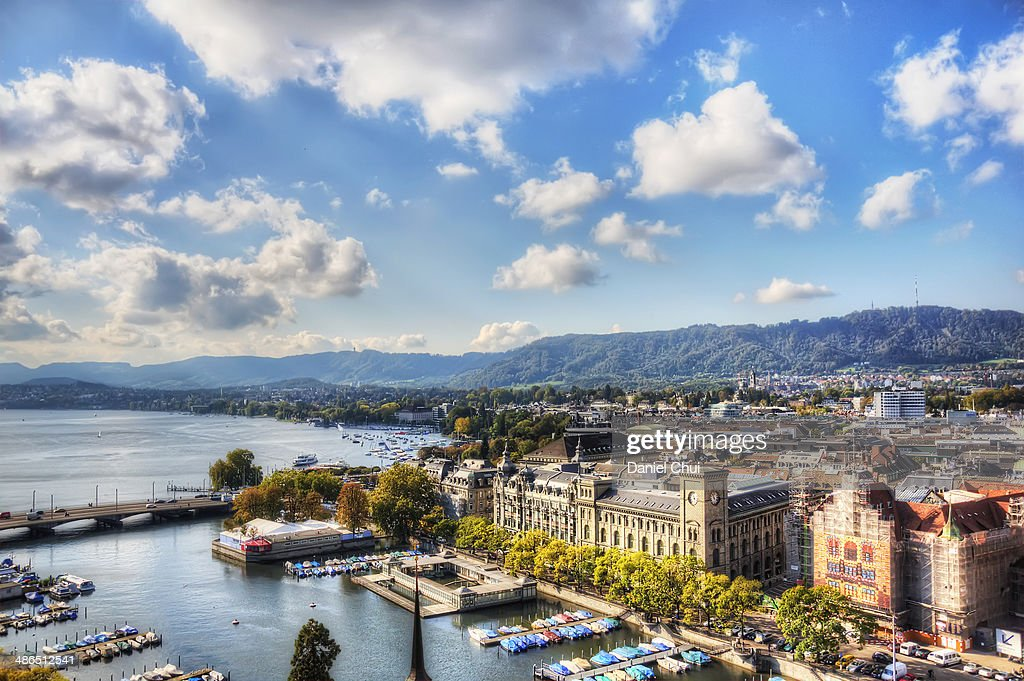Zurich on a bright day : Stock Photo