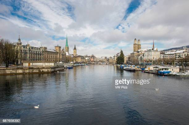 Zurich Switzerland View of the Limmat river