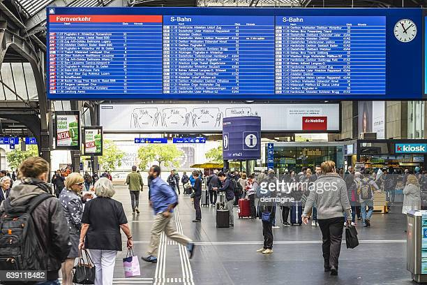 Zurich train station and commuters