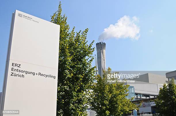 zurich-residuos de la planta - incinerator fotografías e imágenes de stock