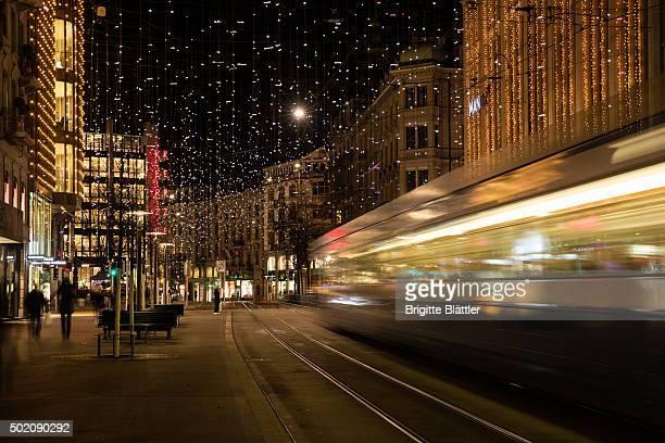 Zurich's famous Bahnhofstrasse