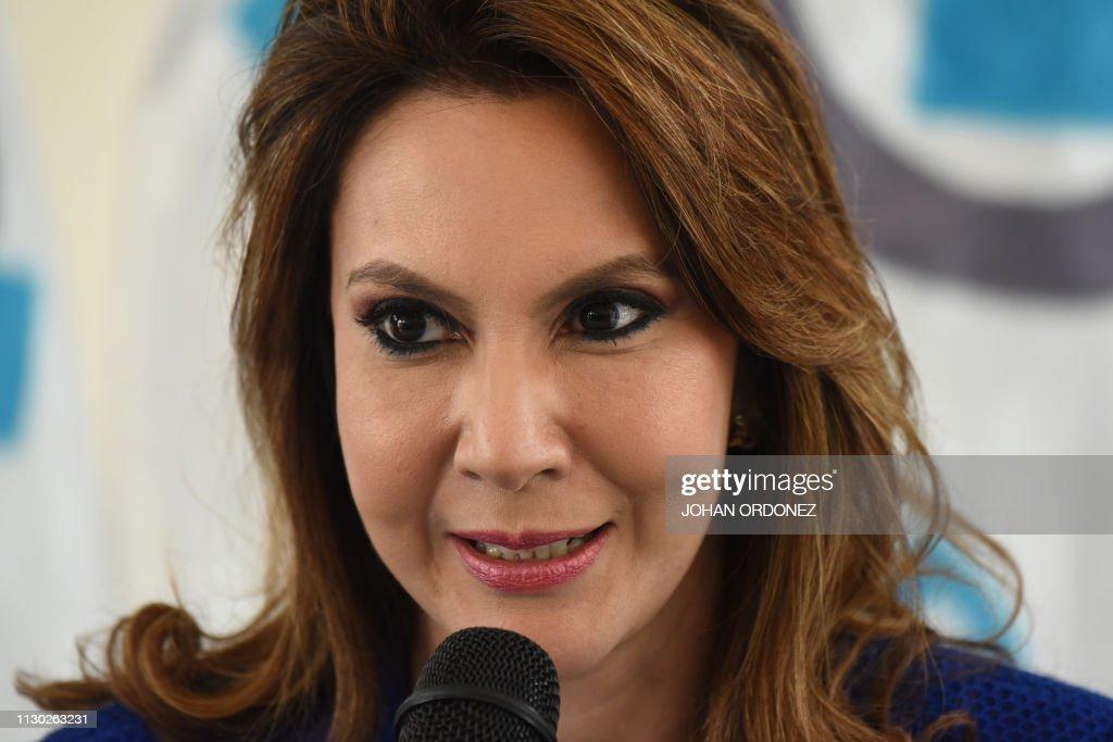 GUATEMALA-POLITICS-RIOS-CANDIDACY : News Photo