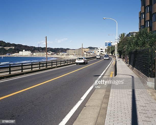 zushi beach - zushi kanagawa stock photos and pictures
