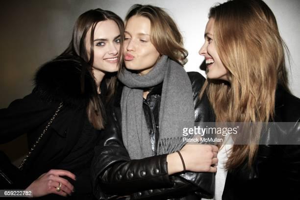 Zuzana Gregorova Laura Blokhina and Edita Vilkeviciute attend THE ICONOCLASTS at PRADA Broadway at Prada Broadway on February 13 2009 in New York City