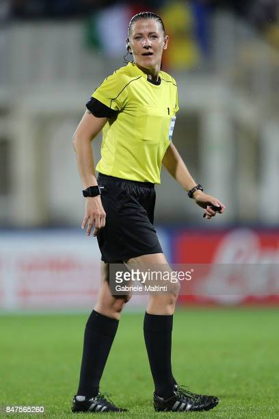 Zuzana Kovacova referee during the 2019 FIFA Women's World Cup Qualifier between Italy Women and Moldova Women at Stadio Alberto Picco on September...