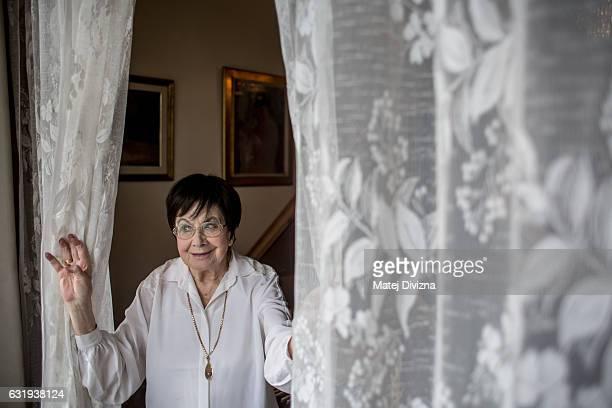 Zuzana Ruzickova, 90-year-old harpsichordist, poses for portrait photo at her flat on October 10, 2016 in Prague, Czech Republic.