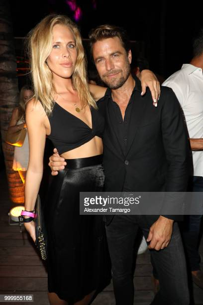 Zuzanna Pactwa and Bertil Espegren attend the 2018 Sports Illustrated Swimsuit show at PARAISO during Miami Swim Week at The W Hotel South Beach on...