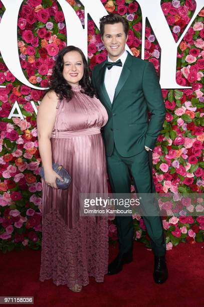 Zuzanna Szadkowski and Andrew Rannells attend the 72nd Annual Tony Awards at Radio City Music Hall on June 10 2018 in New York City