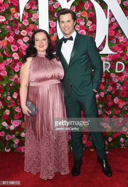 Zuzanna Szadkowski and Andrew Rannells attends the 72nd Annual Tony Awards at Radio City Music Hall on June 10 2018 in New York City