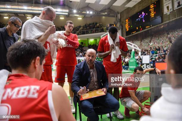Zvezdam Mitrovic coach of Monaco during the Pro A match between Nanterre 92 and Monaco on January 21 2018 in Nanterre France