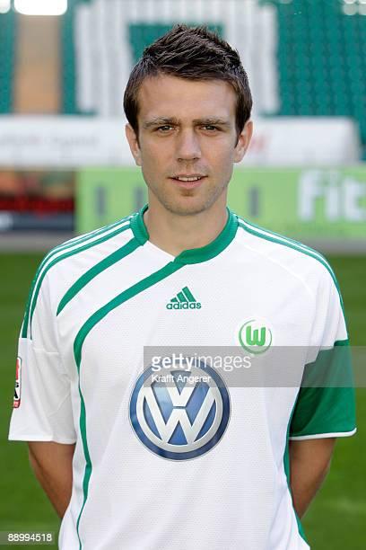 Zvjezdan Misimovic poses during the VfL Wolfsburg team presentation at Volkswagen Arena on July 13 2009 in Wolfsburg Germany