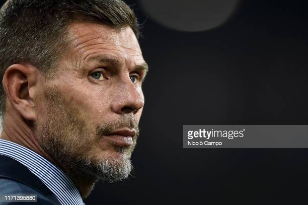 Zvonimir Boban, Chief Football Officer of AC Milan, looks on prior to the Serie A football match between Torino FC and AC Milan. Torino FC won 2-1...