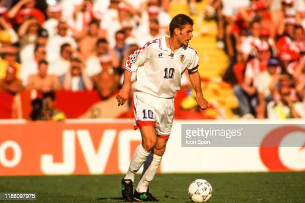 Zvonimir Boban of Croatia during the European Championship match between Croatia and Denmark at Hillsborough, Sheffield, England on 16 June 1996