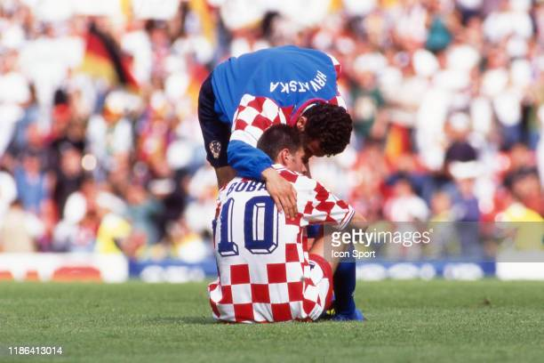 Zvonimir Boban of Croatia looks dejected during the Quarter Final European Championship match between Germany and Croatia at Old Trafford,...