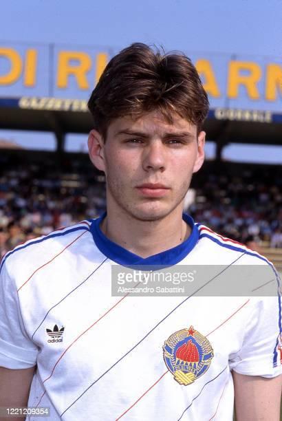 Zvonimir Boban of Yugoslavia U21 poses for photo 1990.