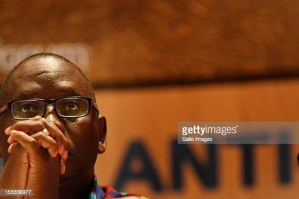 Zwelinzima Vavi speaks on behalf of civil society sector at the 4th National anti-corruption summit on December 8, 2011 in Johannesburg, South Africa.