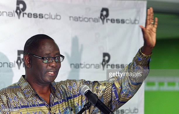 Zwelinzima Vavi the secretary general of South Africa's powerful labour federation Cosatu gives a press conference on March 6 2012 in Pretoria Cosatu...