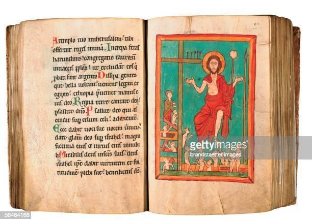 Zwettl, Lower Austria: Cistercian Monastery. Monastery Library. Illuminated Handwriting. Photography by Gerald Trumler. [Zwettl, Niederoesterreich:...
