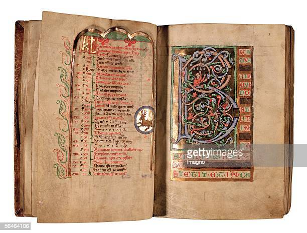 Zwettl, Lower Austria: Cistercian monastery. Monastery library. Psalter, Codex 204. First half of the 13th cent. Calender for June and July....